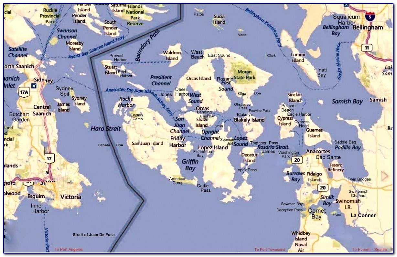 San Juan Islands Boating Map