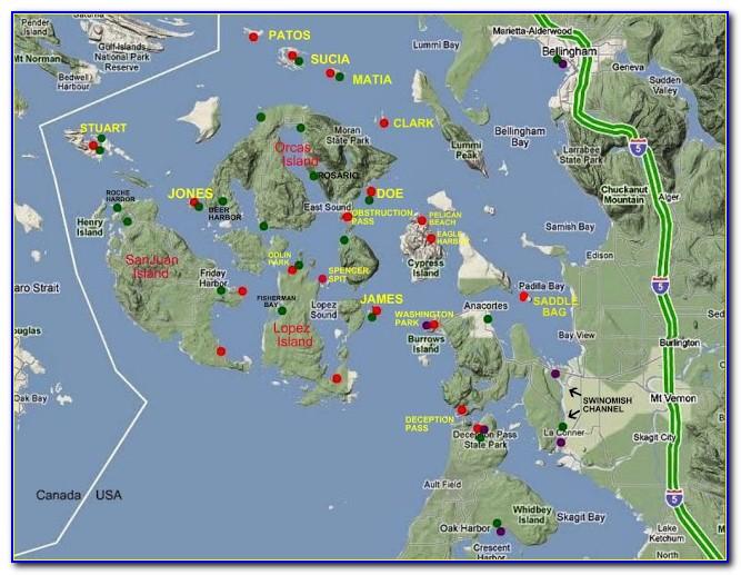 San Juan Islands Nautical Map