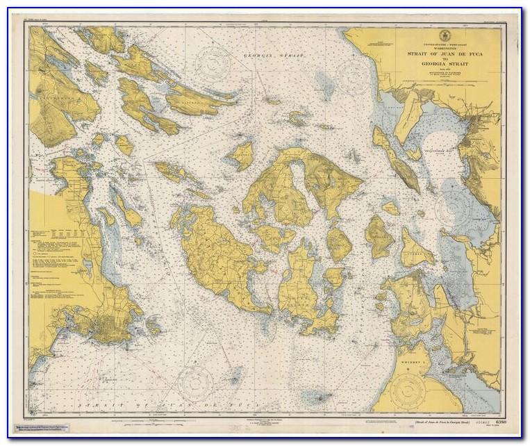 San Juan Islands Sailing Map