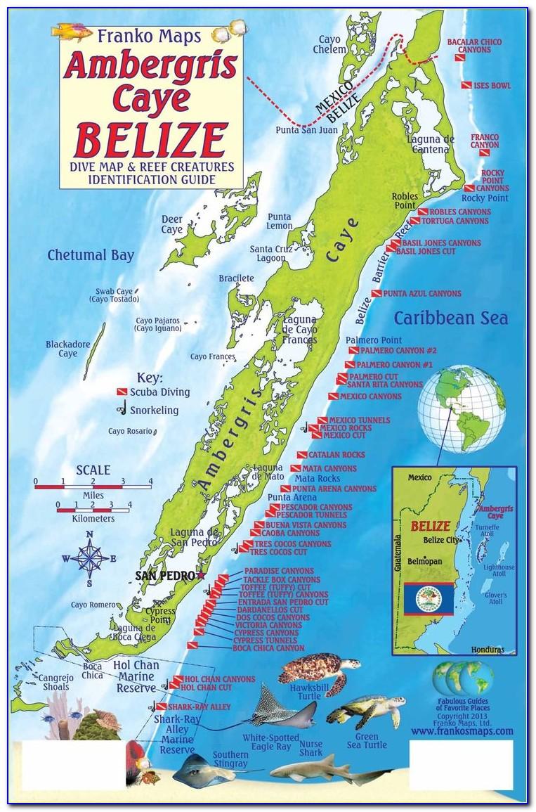 San Pedro Belize Resorts Map