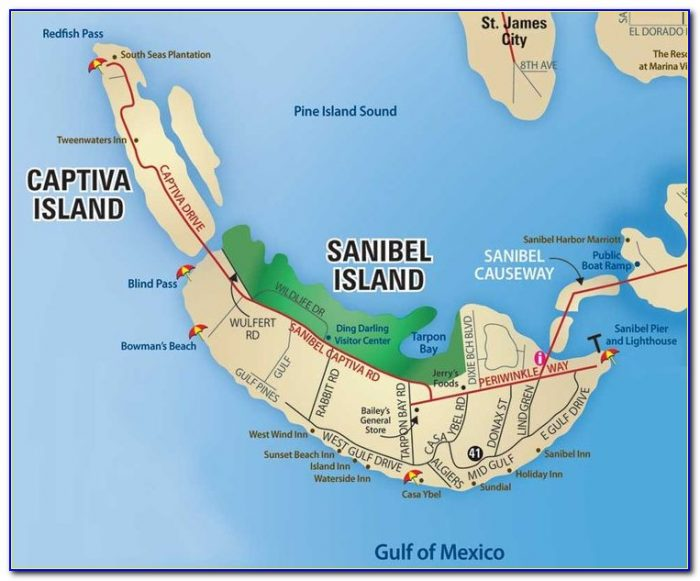 Sanibel Island Fl Map