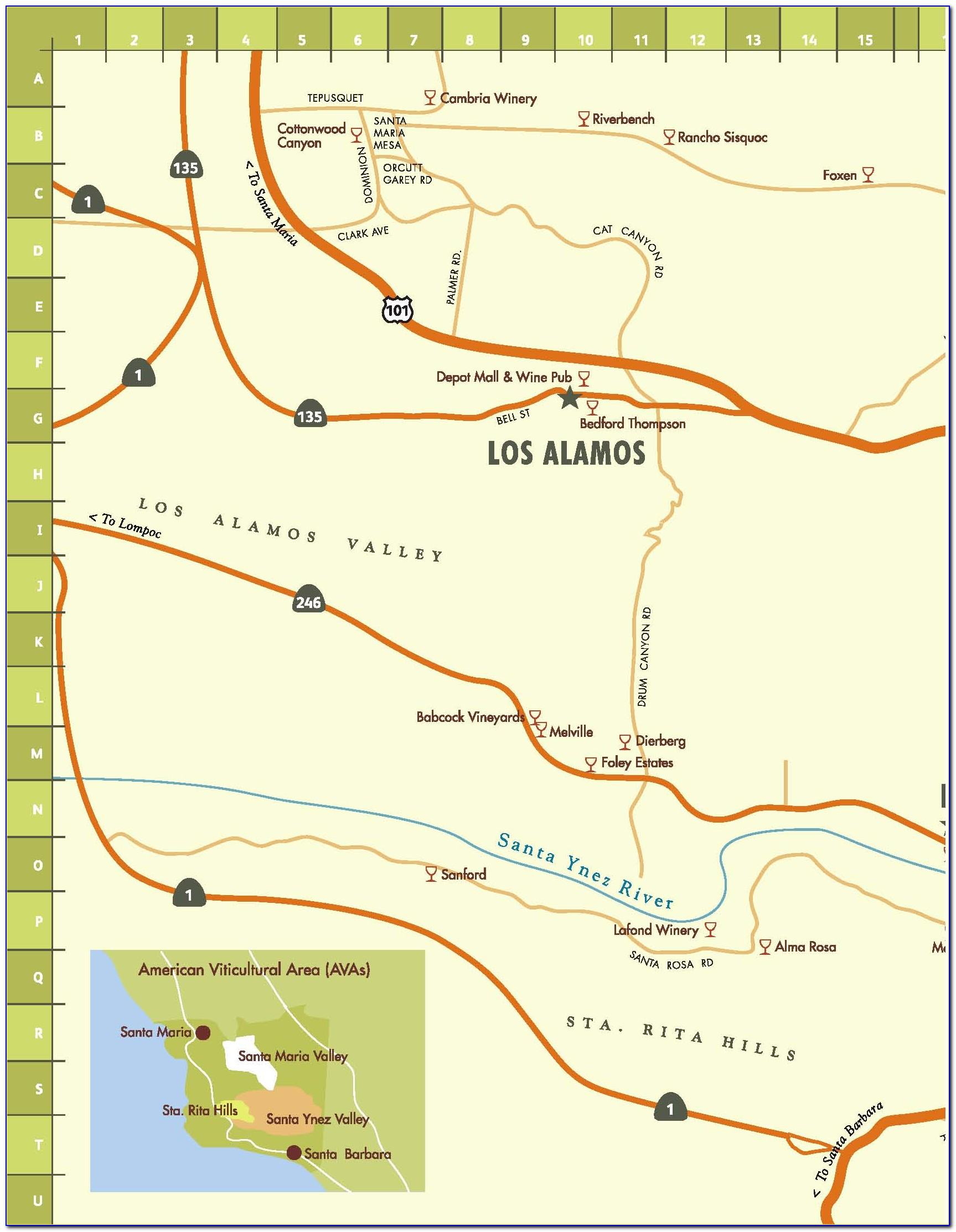 Santa Barbara Wine Tasting Map