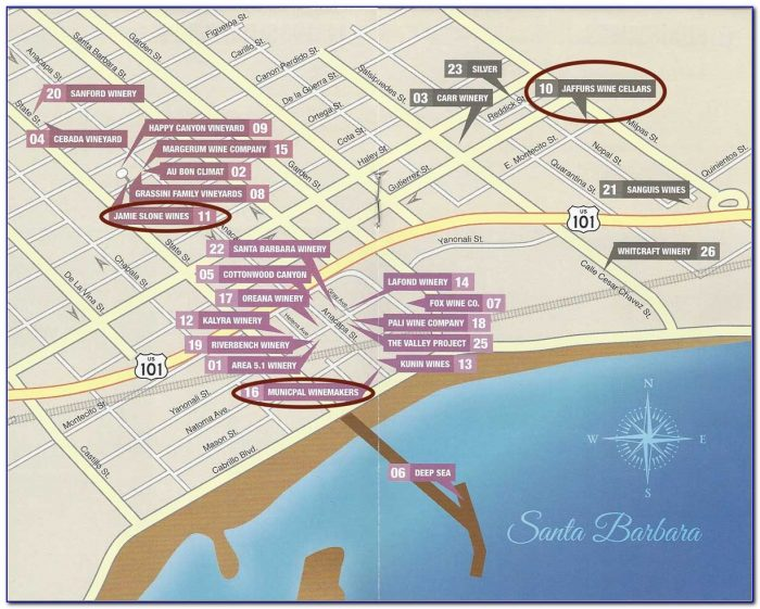 Santa Ynez Valley Wineries Map