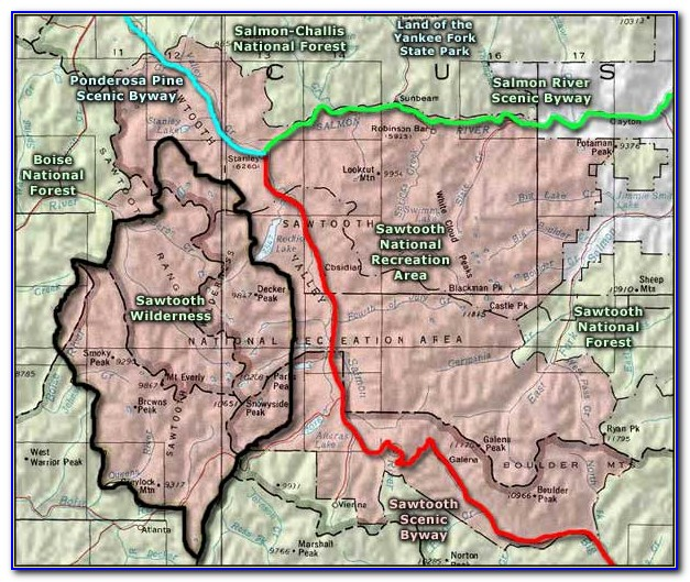 Sawtooth Wilderness Map