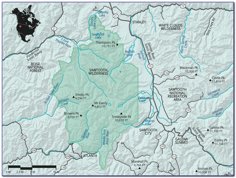 Sawtooth Wilderness Maps