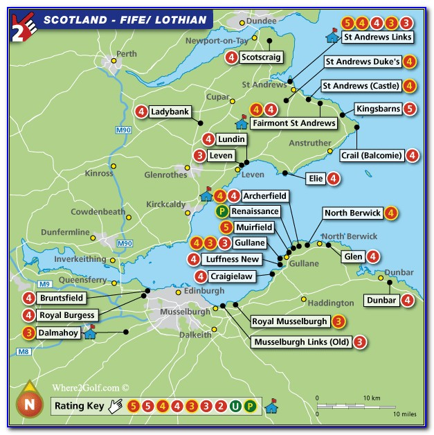 Scotland Map Golf Courses
