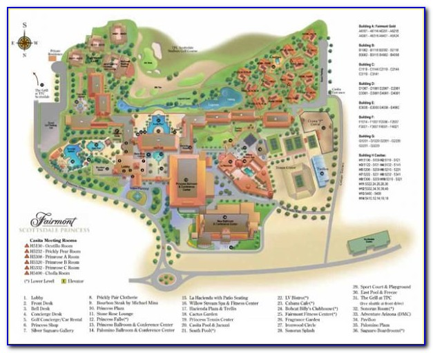 Scottsdale Az Hotel Map