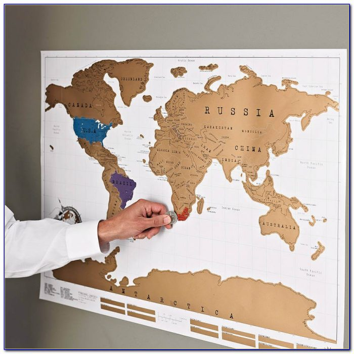 Scratch Off World Wall Map