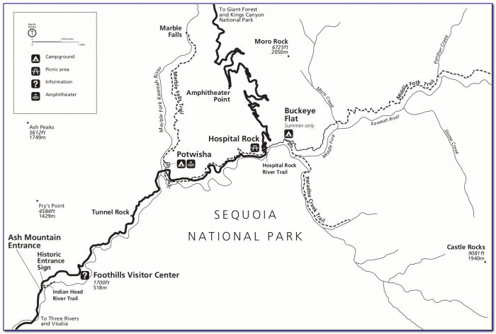 Sequoia National Park Congress Trail Map