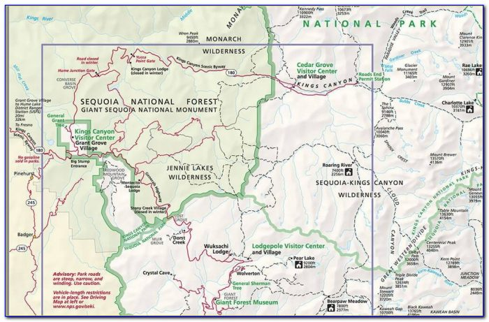 Sequoia National Park Hiking Trail Map Pdf