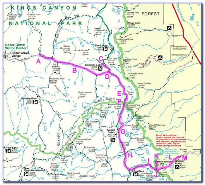 Sequoia National Park Lakes Trail Map