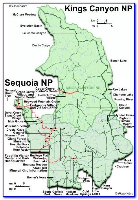 Sequoia National Park Pear Lake Trail Map