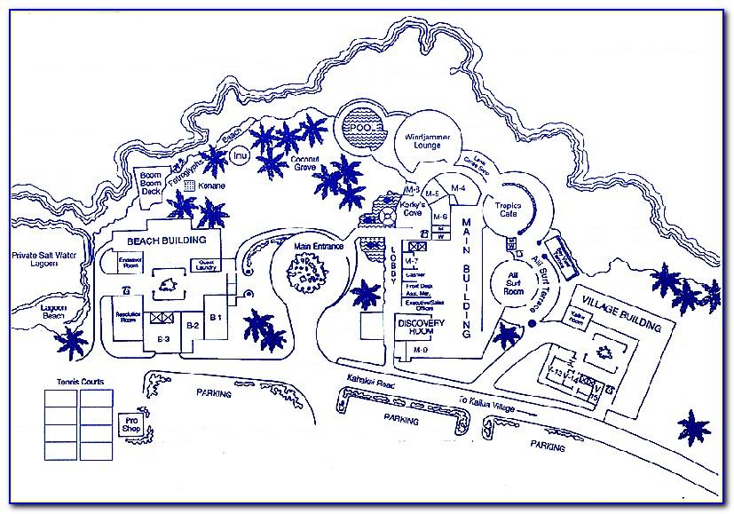 Sheraton Kona Hotel Map