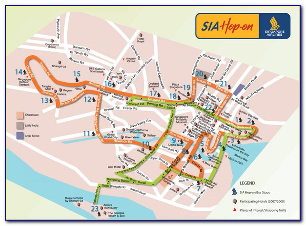 Singapore Hop On Hop Off Bus Map