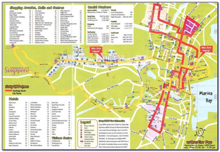 Singapore Hop On Hop Off Bus Route Map
