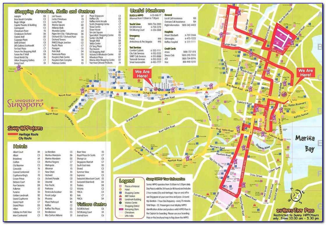 Singapore Hop On Hop Off Bus Route Map