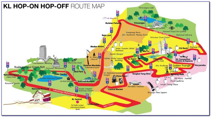 Singapore Hop On Hop Off Bus Tour Map