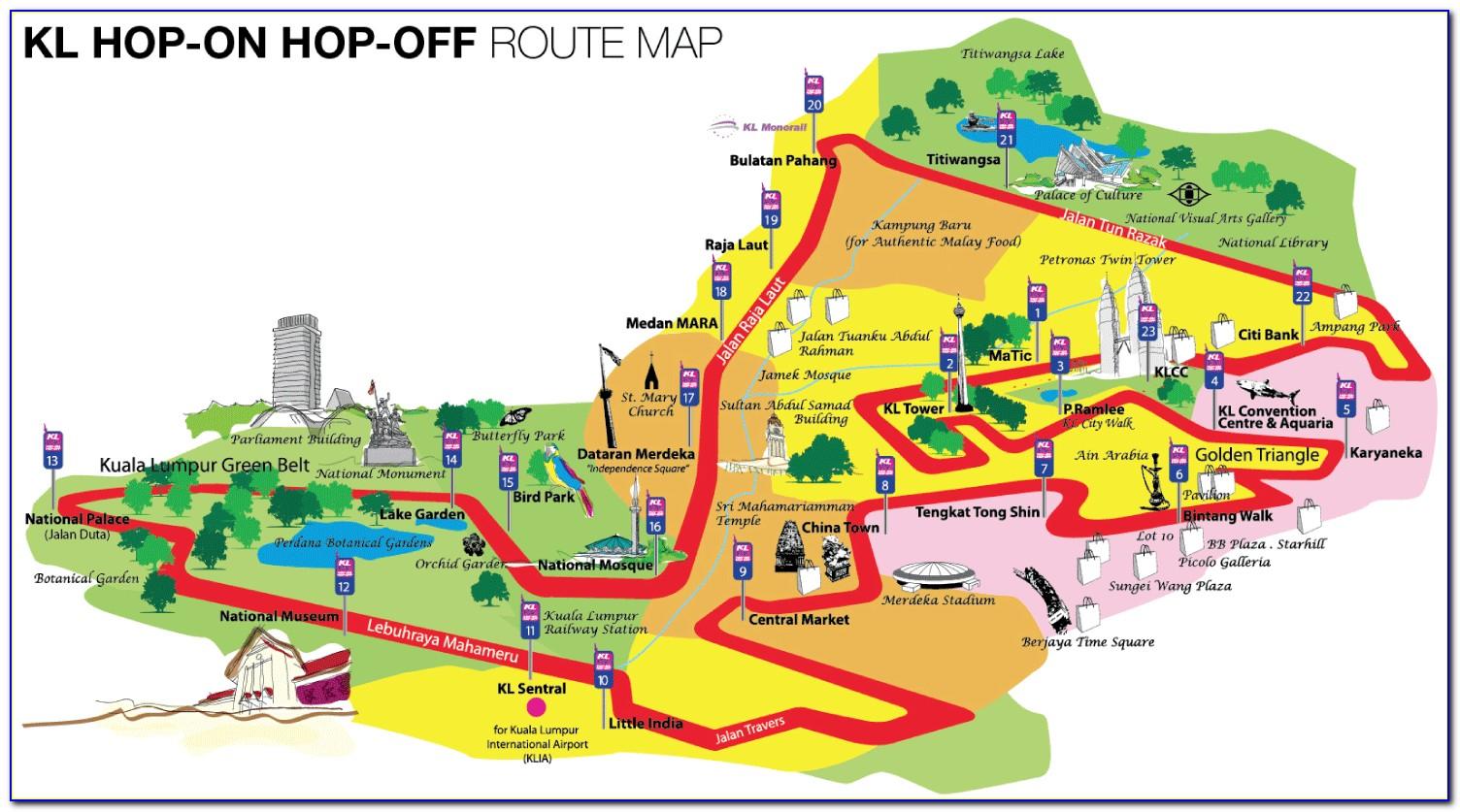 Singapore Hop On Hop Off Bus Tour Map