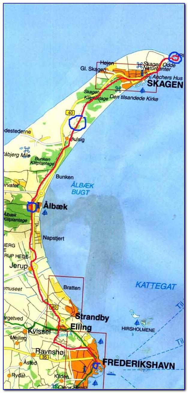 Skagen Norway Map