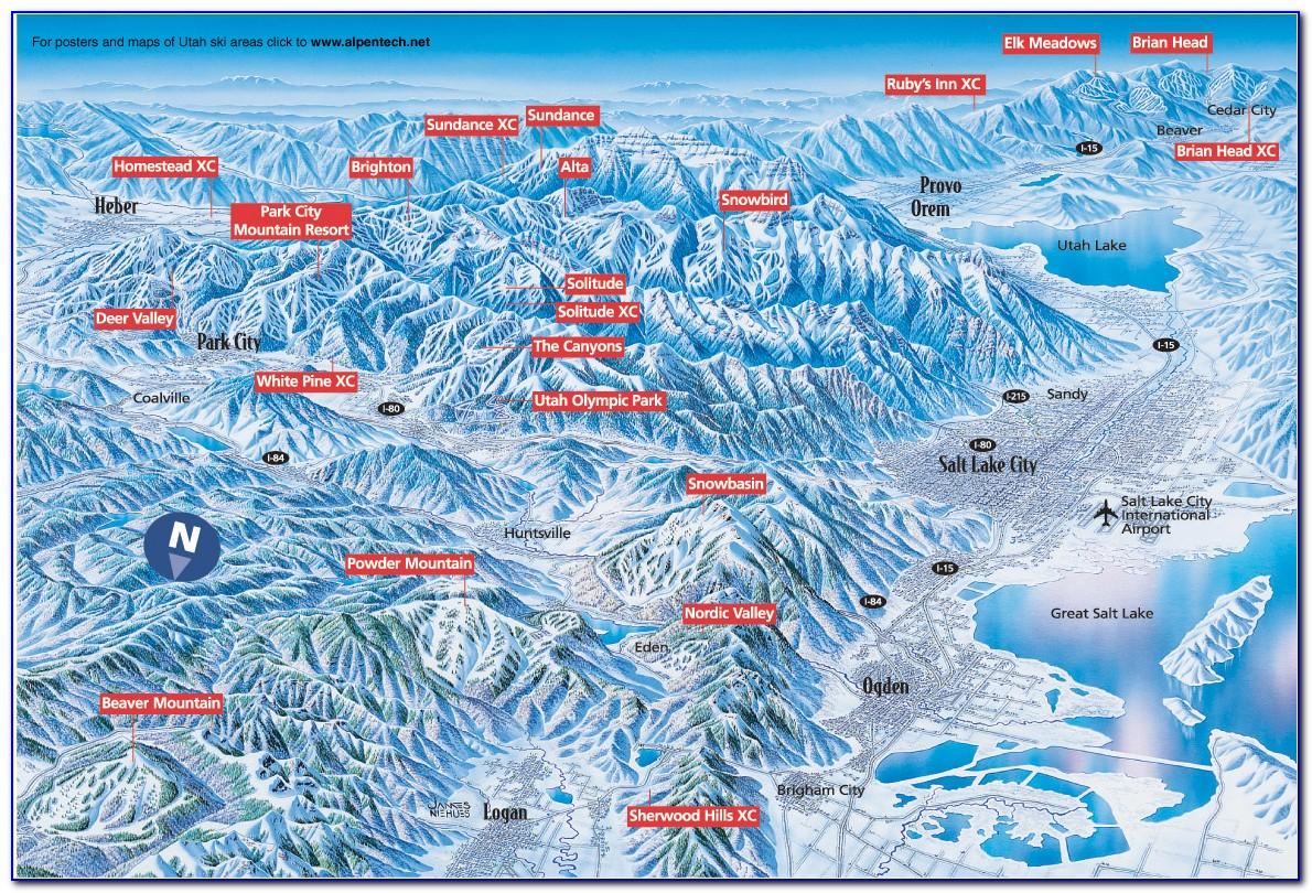 Ski Areas In Utah Map