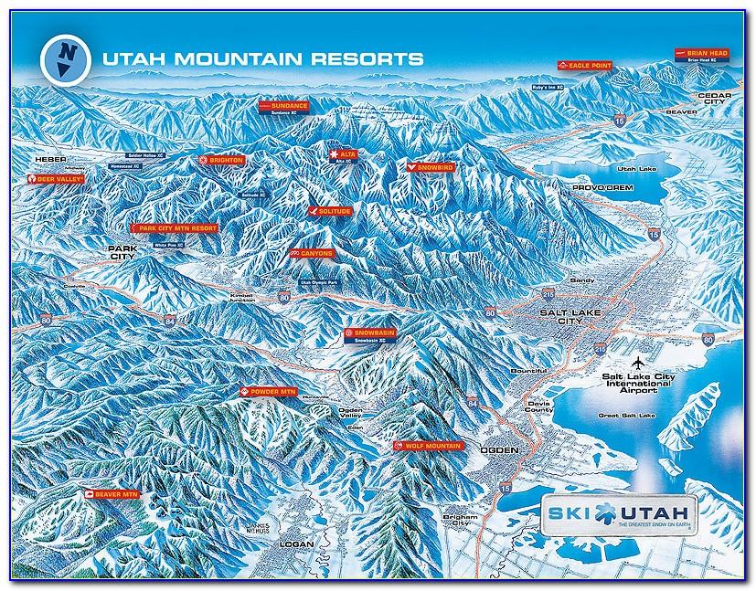Ski Resorts In Utah Map