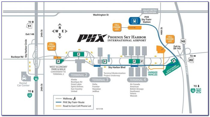 Sky Harbor Airport Parking Map