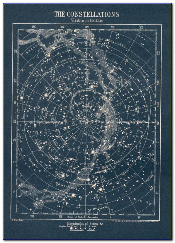 Star Constellations Map Gift