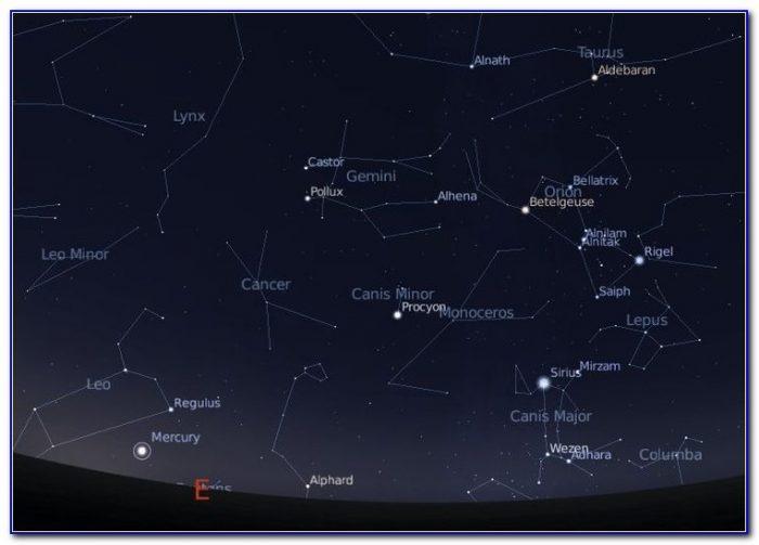 Star Constellations Map Uk