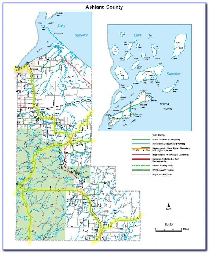 Street Map Of Ashland Wi