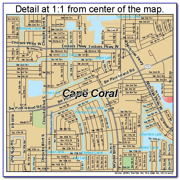 Street Map Of Cape Coral Florida