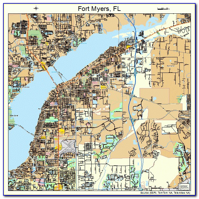 Street Map Of Fort Myers Florida