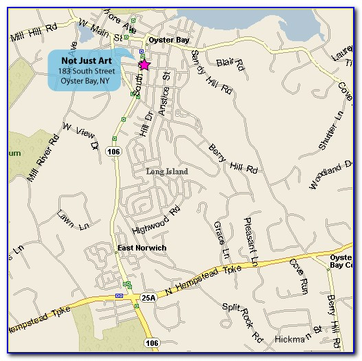 Street Map Of Oyster Bay Ny