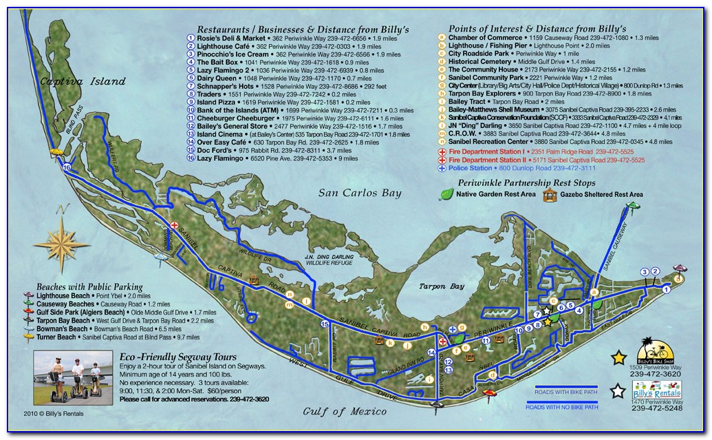 Street Map Of Sanibel Island Florida