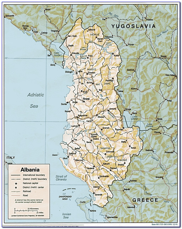 Street Map Of Tirana Albania