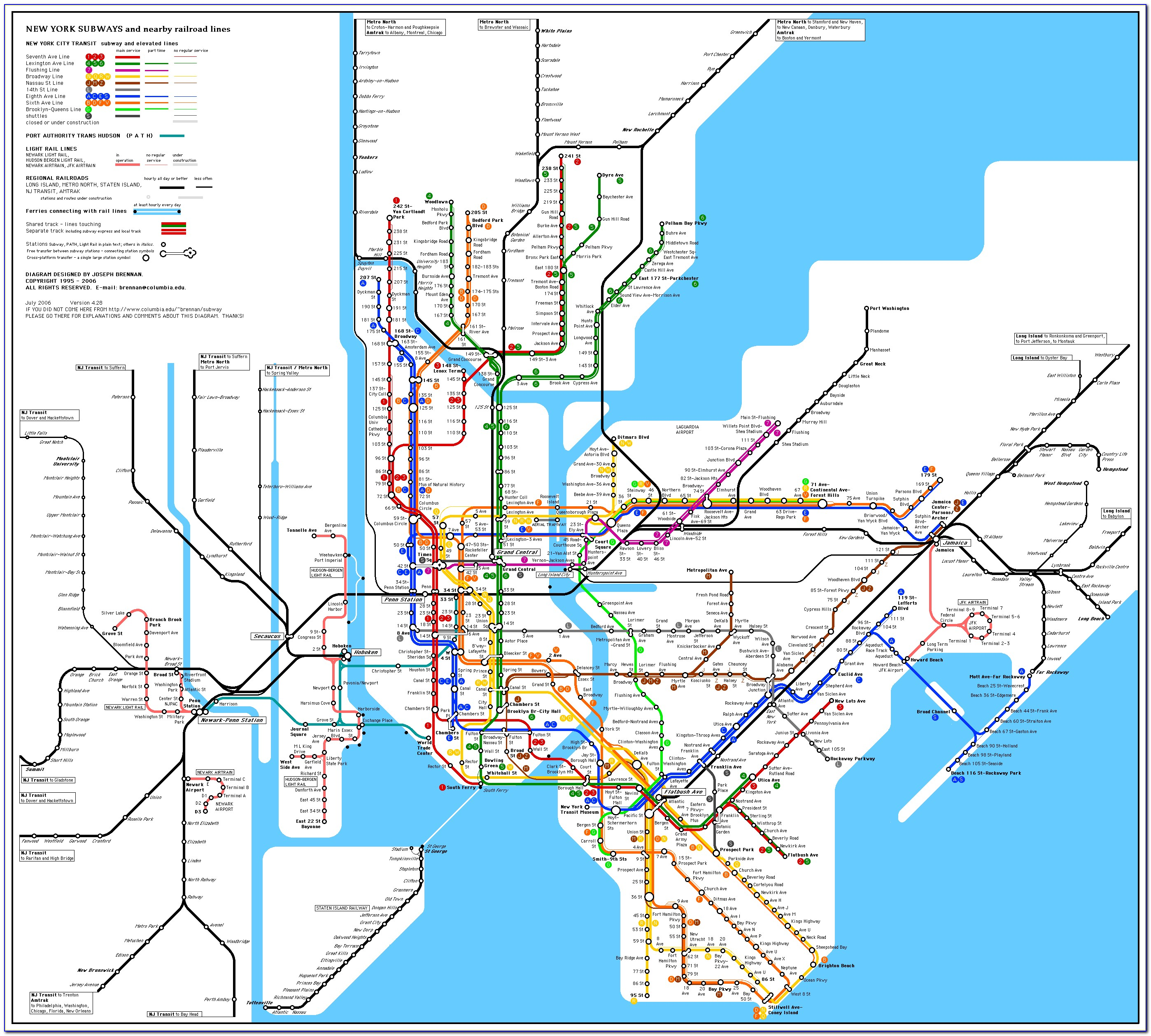 Subway Map New York City Mta