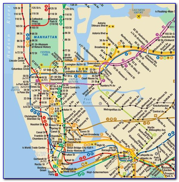 Subway Map New York City Pdf