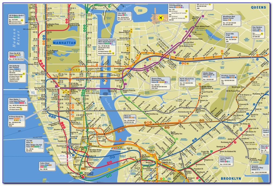 Subway Map New York Jersey City
