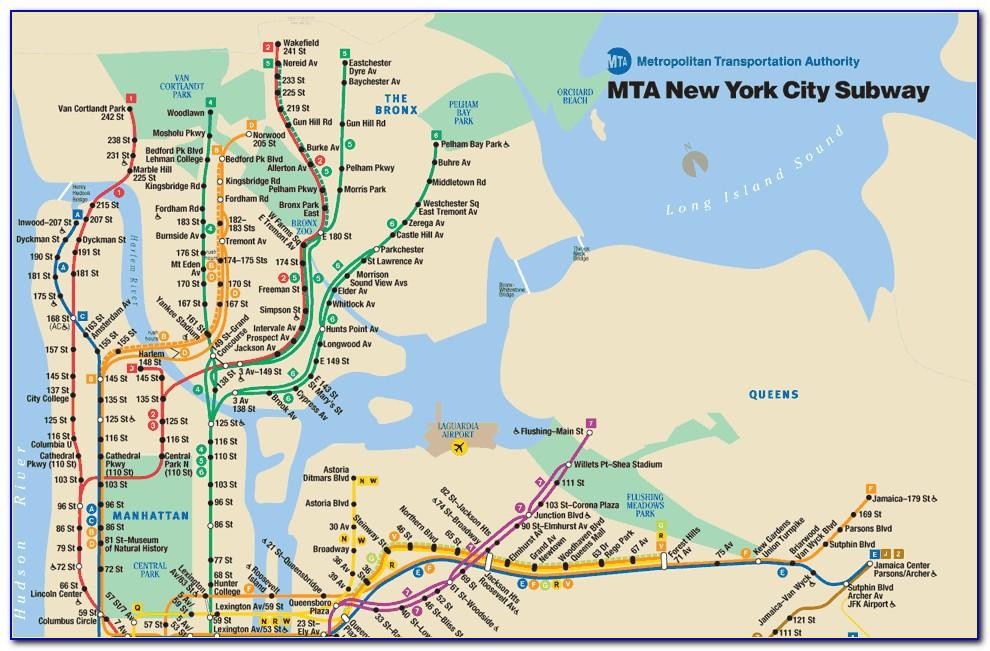 Subway Map New York Pdf