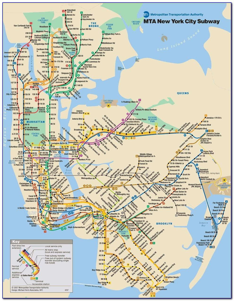 Subway Map Of New York City
