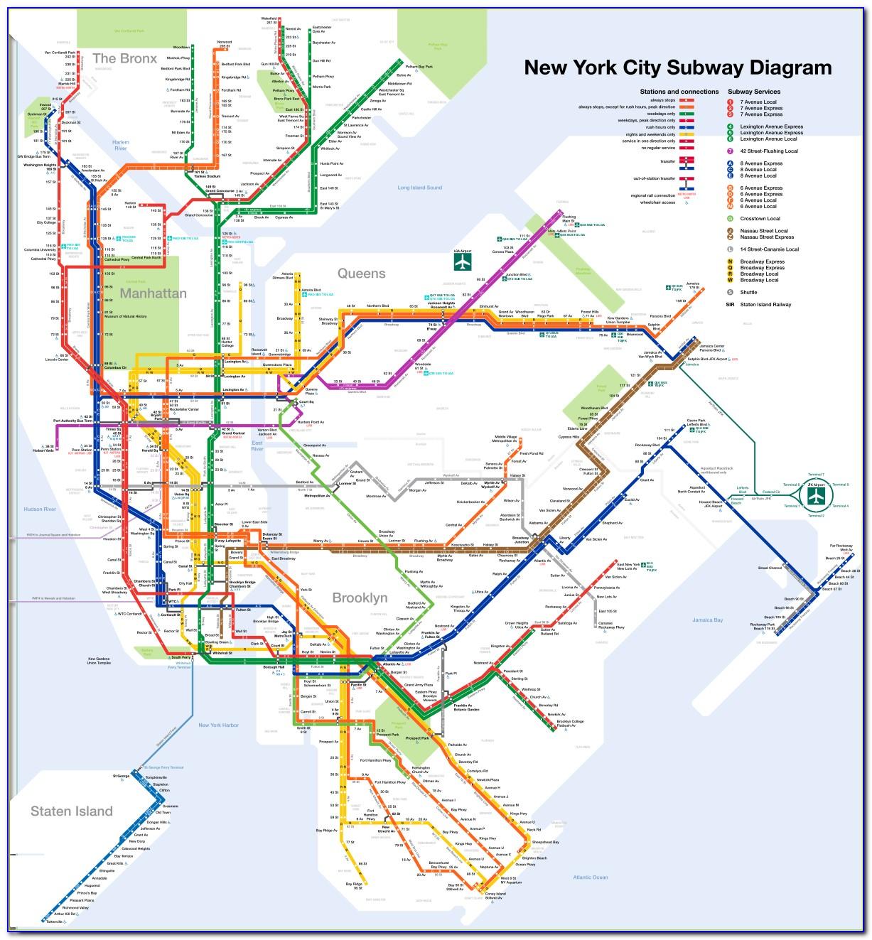 Subway Map Of New York