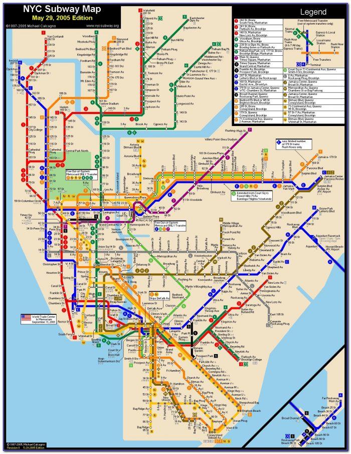 Subway Maps New York City