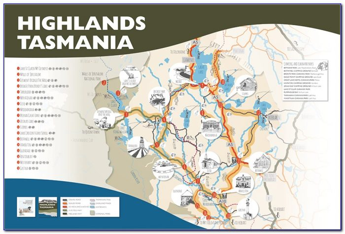 Tasmania Visitors Map