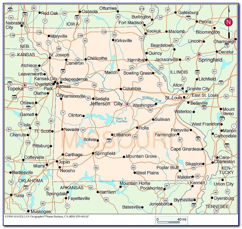 Tent Camping In Missouri Map