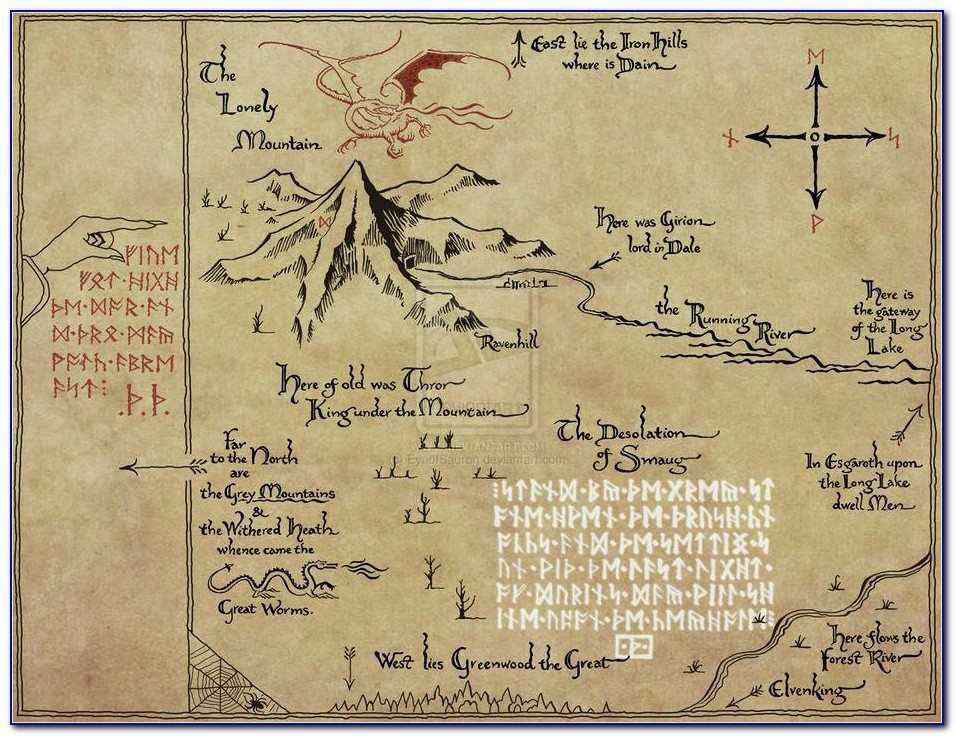The Hobbit Maps Of Middle Earth