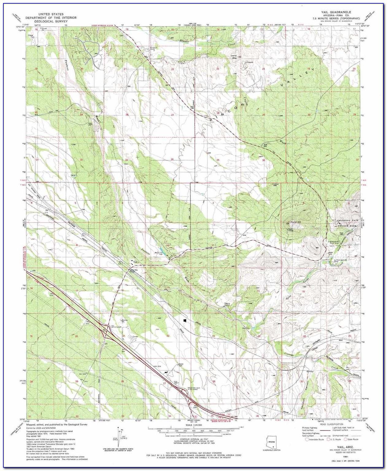 Topo Map Arizona
