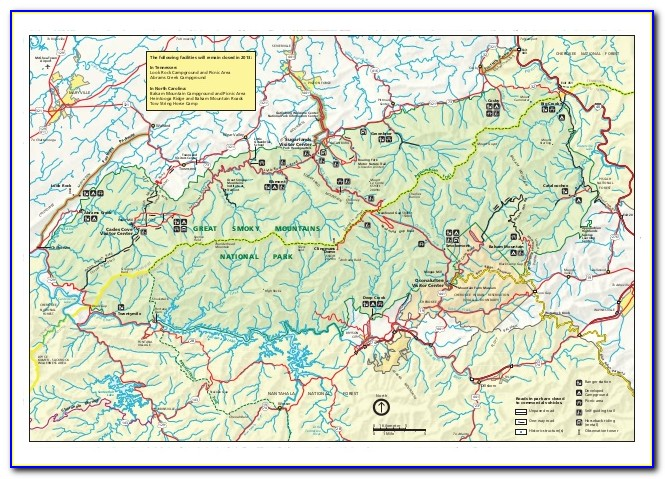 Topo Map Great Smoky Mountains National Park