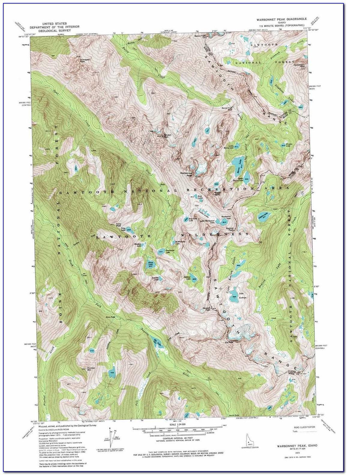 Topo Map Mccall Idaho