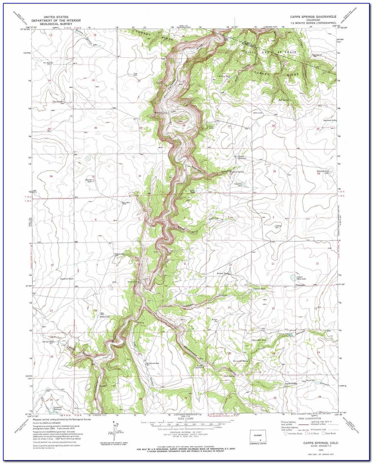 Topo Map Of Colorado River