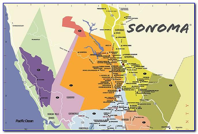 Topo Map Sonoma County Ca