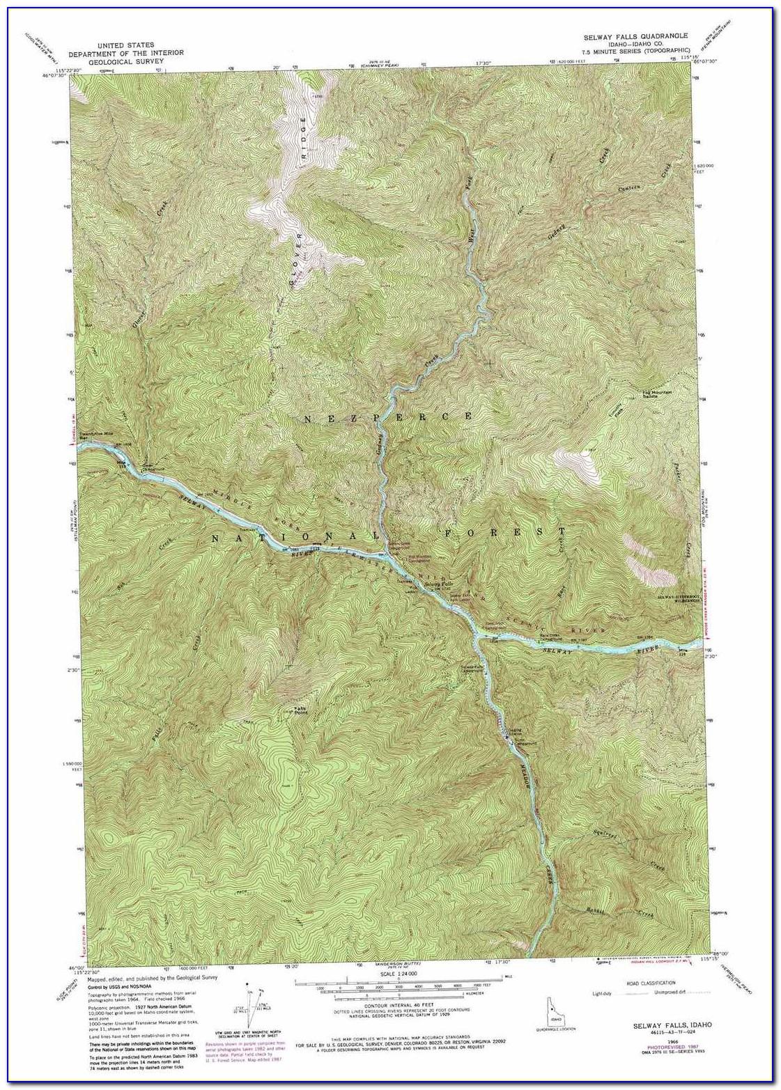 Topo Map Stanley Idaho